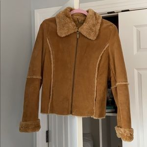Winlit fleece lined leather jacket